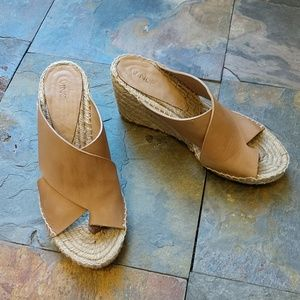 Vince leather wedges